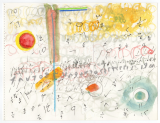 Etel Adnan, Untitled no. 7, 1990. From the series Album à dessins Courtesy of the artist and Sfeir-Semler Gallery, Beirut / Hamburg and kurimanzutto, Mexico City. Cortesía de Kurimanzutto