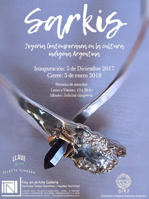 SARKIS. JOYERIA CONTEMPORANEA EN LA CULTURA INDIGENA ARGENTINA. Imagen cortesía galeriahoyenelarte