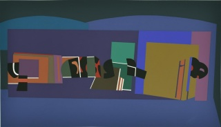 Untitled, 1998. Serigraph on paper, 25 x 35 13/16 in. (63.5 x 91 cm.). Imagen cortesía Sicardi Gallery