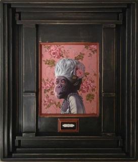 Daniel Sueiras, Marie Chimptoinette. Óleo sobre tabla, 88x73 cm. — Cortesía de la galería Bea Villamarín