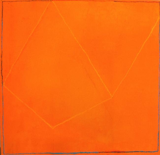 """Jaume Ribas, """"S.T."""", 2014. Mixta s/tabla, 109 x 112 cm. — Cortesía de la galería Atelier"""