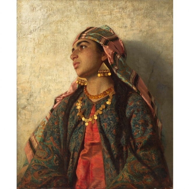 Francesc Masriera. Muchacha mora, c. 1889. Colección particular — Cortesía del Museo Carmen Thyssen-Bornemisza de Málaga
