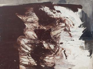 Rafael Canogar, Pintura no. 78, 1961. Oil on canvas, 97 x 130 cm. — Cortesía de Galeria Mayoral