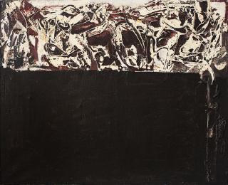 Rafael Canogar, Barbercho, 1963. Oil on canvas, 81 x 100 cm. — Cortesía de Galeria Mayoral