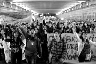 Santiago Arau Pontones, Protest march in Mexico City, November 20, 2014