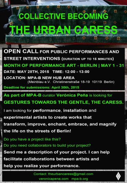OPEN CALL for COLLECTIVE BECOMING: THE URBAN CARESS