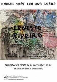 Ernesto Riveiro,  techniques mixtes sur papier.