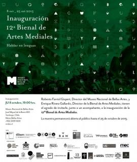 12ª Bienal de Artes Mediales: Hablar en Lenguas