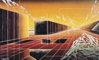 Xavier Gonzàlez Arnau, L´antilop del coure negre, 64,5 x 105 cm. Acrílic sobre fusta, 2003