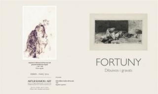 Díptico Exposición Fortuny Artur Ramon Art