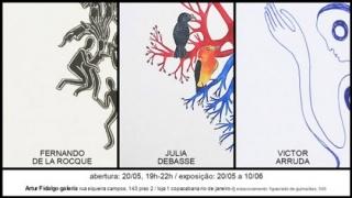 Fernando de La Rocque, Julia Debasse e Victor Arruda