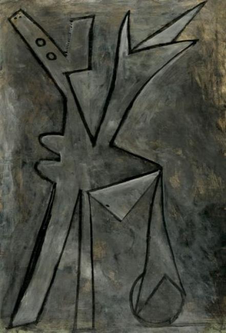 Bañista con balón. Dinard, mediados de septiembre 1929.Óleo sobre lienzo,187x128 cm.Fundación Almine y Bernard Ruiz-Picasso para el Arte, Madrid.©FABA Foto: Éric Baudouin.©Sucesión Pablo Picasso, VEGAP, Madrid, 2018 — Cortesía del Museo Picasso Málaga