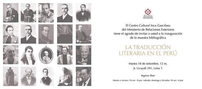La traducción literaria en el Perú. Imagen cortesía Centro Cultural Inca Garcilaso del Ministerio de Relaciones Exteriores