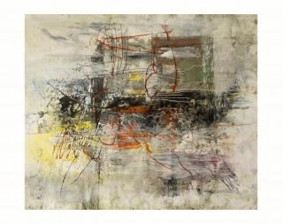 Víctor Ramírez, El encuentro con la sombra (después de Ludwing Kirchner). 150 x 190 cm. Técnica mixta sobre tela. 2018 — Cortesía de Galerie K - Barcelona