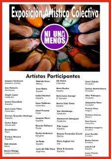 Cartel de los artistas participantes en dicho evento expositivo