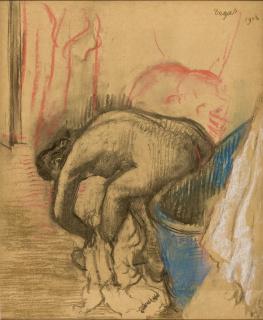 Edgar Degas, Mulher enxugando a perna esquerda, 1903. Carvão e pastel sobre papel, 61 x 51 cm. Acervo MASP. Doação Henryk Spitz Jordan, 1952. Foto João Musa