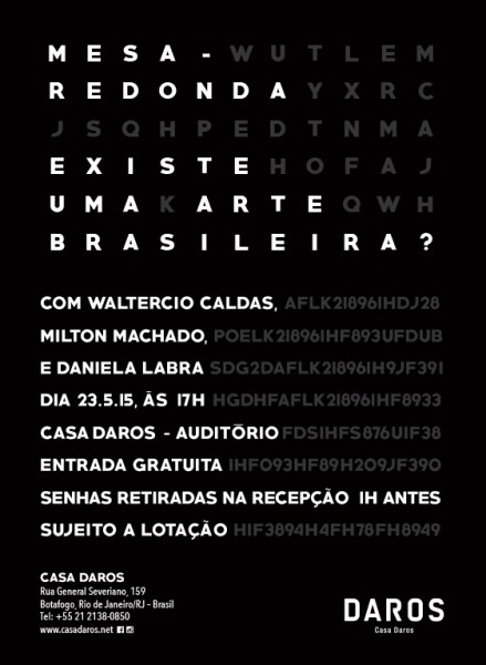 Mesa - redonda: Existe uma arte brasileira?