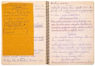 Cuaderno del artista Juan Grela
