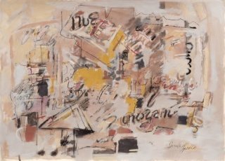 Sarah Grilo. Untitled, 1998. Mixed media on paper. 50,6 x 70 cm. Cortesía de la Galerie Lelong