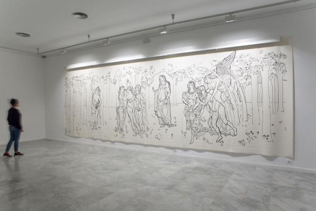 Luna Bengoechea, Foto mural —  Cortesía Galería Lucía Mendoza