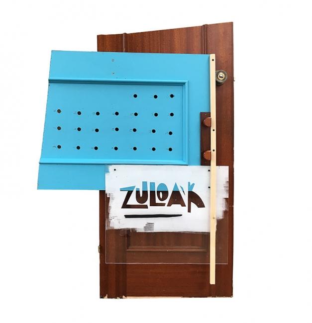 Puerta creada por el artista Xabier Anunzibai — Cortesía del Centro de Cultura Contemporánea Tabakalera