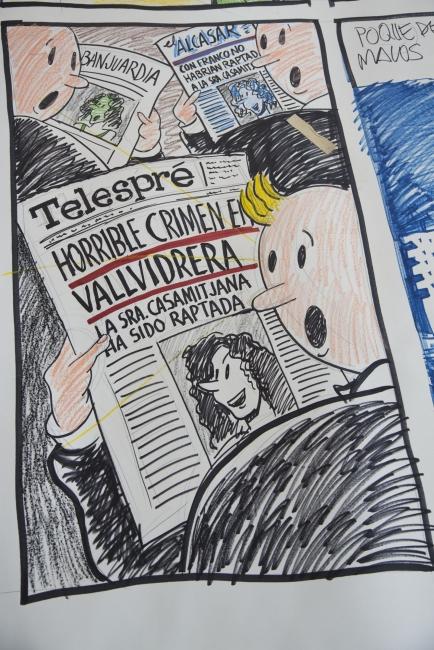 Diversos col·laboradors. Amor en Vallvidrera, un comic en viu, 1980. Museu Nacional d'Art de Catalunya 2019 — Cortesía del Museu Nacional d'Art de Catalunya
