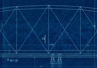 Mercedes Mangrané. Detalle de la construcción del Pont d'en Jordà — Cortesía de Art Barcelona