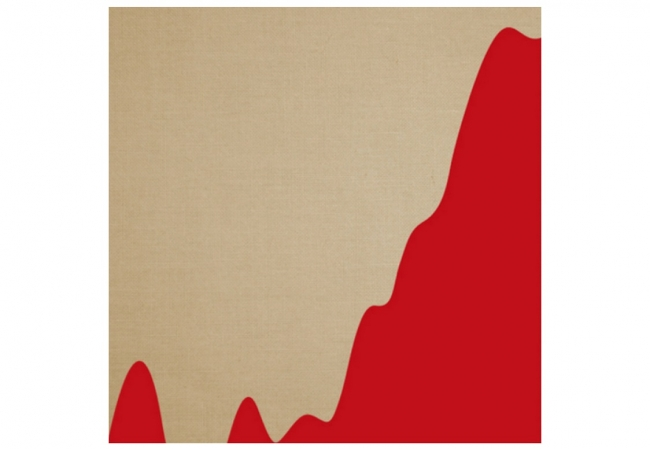 PSJM - Temperature rise in the XX Century. Petroleum products on natural linen, 150 x 150 cm. — Cortesía de Gerhardt Braun Gallery