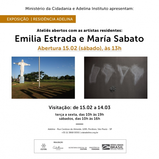 Residência Adelina 2020 | Ateliês abertos: Emilia Estrada e María Sabato