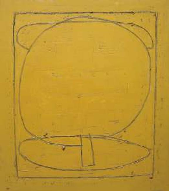 Joan Hernández Pijuan. Nuvols, arbre, ombra, 1999. Óleo sobre lienzo, 162x145 cm. — Cortesía de Apertura Madrid Gallery Weekend 2020