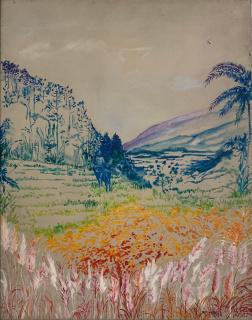 ELDA CERRATO. Lugar soñado II. Serie de la imagen recordada, 1984. Acrílico sobre tela. 45,5 x 35,5 cm. — Cortesía de Herlitzka + Faria