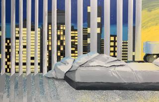 Jacuzzi (detail), 2021, acrylic on canvas