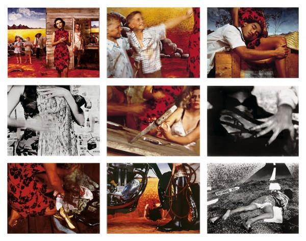 Tracey Moffatt, Something More, 1989. 6 fotografías a color cibachrome y 3 fotografías b/n sobre papel