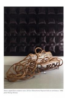 Pablo Reinoso, Retour vé´getal (bois esulpté et acier, 2015) et Monochrome Respirant (toile et ventilateurs, 1999). Fotografía de Rodrigo Reinoso