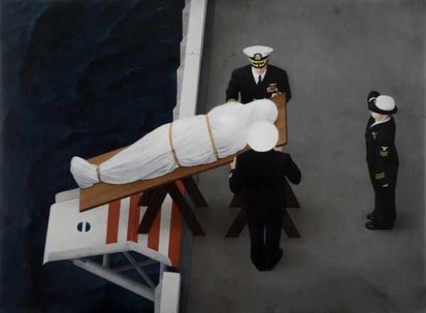 Kepa Garraza, The Burial 3 (study), 2016. Oil on canvas, 70 x 100 cm. Courtesy the artist/Galería ATM Altamira, Gijón.