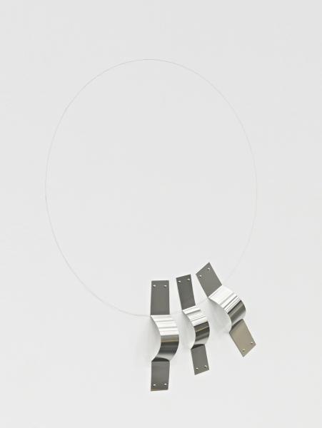 ?SUSANA SOLANO. Mueca, nº 2, 2016. 106 x 80,60 cms. Acero inoxidable y lápiz