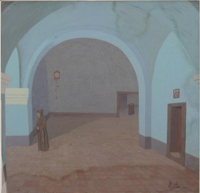 Claustro del convento San Francisco (Salta) o Claustro San Francisco (Salta), 1923 Témpera s/papel 66 x 68 Museo Nacional de Bellas Artes. Imagen cortesía Espacio de Arte Fundacion OSDE