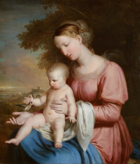 Rafael Tegeo. Virgen del Jilguero, 1825-1828. Museo del Romanticismo — Cortesía del Museo del Romanticismo