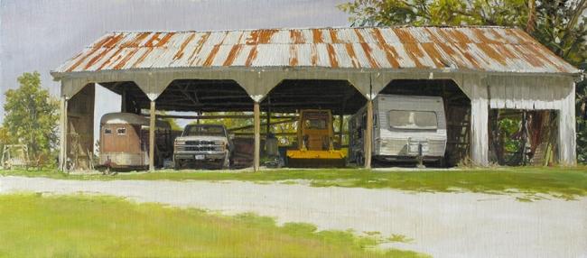 Félix de La Concha, Parking SHED, 33x76'5 cm. — Cortesía de la Galería Siboney