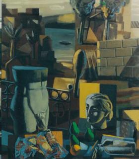 Jorge Gay, La memoria, lo sentimental y lo representado (2002), 130 x 114 cm, acrílic sobre tela — Cortesía de Sala Dalmau