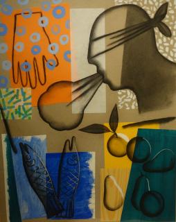 "Jorge Gay ""Composición"" (2008) 70 x 55 cm. técnica mixta sobre papel"