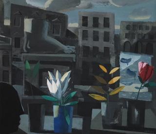 "Jorge Gay ""Eurídice"" (2014) 55 x 62 cm. acrílico sobre cartón"