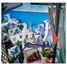 Artistas en una terraza o Conversaciones sobre un nuevo arte Mediterráneo, 1976.  Colección Suñol Soler / Fundació Suñol, Barcelona © Guillermo Pérez Villalta. VEGAP, Madrid 2020 — Cortesía de la Comunidad de Madrid