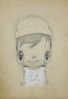 Javier Calleja. Si yo te contara, 2020. Pencil on paper. 17 x 12 cm. — Cortesía de la Galería Rafael Pérez Hernando