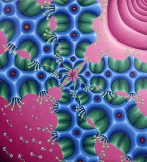 Manuel Rubín, Alas - Serie ´Volûptas Replêtus´, 2012, acrílico sobre tela, 130 x 120 cm.