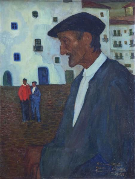 Valentín de Zubiaurre Aguirrezabal, Ondarroa. Óleo sobre lienzo, 60 x 46 cm.
