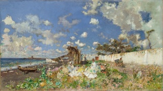 At the Beach: Mariano Fortuny y Marsal and William Merritt Chase