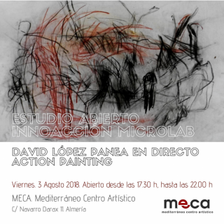 Estudio Abierto Innoacción Microlab David López Panea. Imagen cortesía MECA Mediterráneo Centro Artístico
