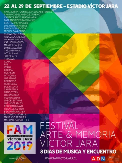 Afiche FAM Víctor Jara