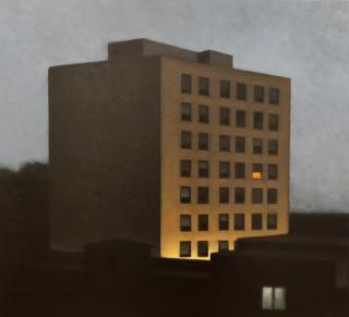 Gonzalo Sicre, Solitario, 2018. Óleo sobre tela 73x81 cm. — Cortesía de Art Barcelona